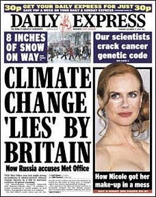 Climategate 2 is front page news