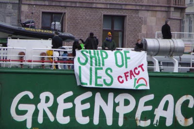 Greenpeace ships targeted, proper banners displayed!